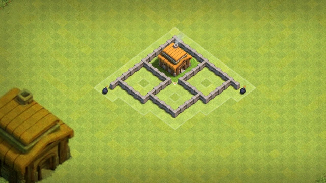 Clash of Clans New Town Hall 3 Hybrid Base #3