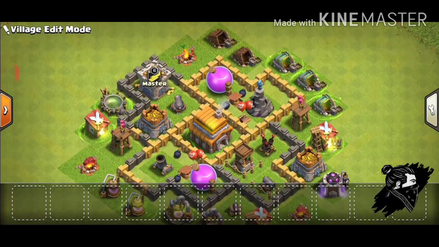 #coc || clash of clans town hall 5 base || #AlanTelson || my fist vidio please support guys