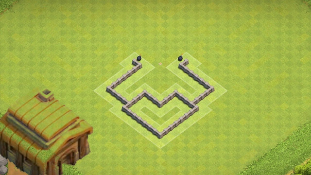 Clash of Clans New Town Hall 3 Hybrid Base #4