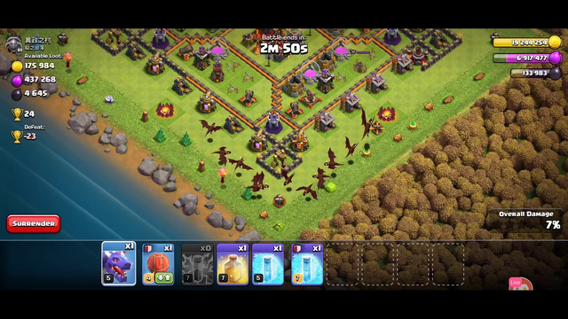 Clash of Clans attack town hall 10