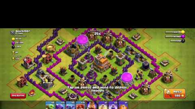 Clash of Clans Town Hall 8 3 star