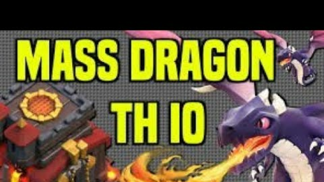 CLASH OF CLANS| Th10| dragon attack| full star| vibes corner.