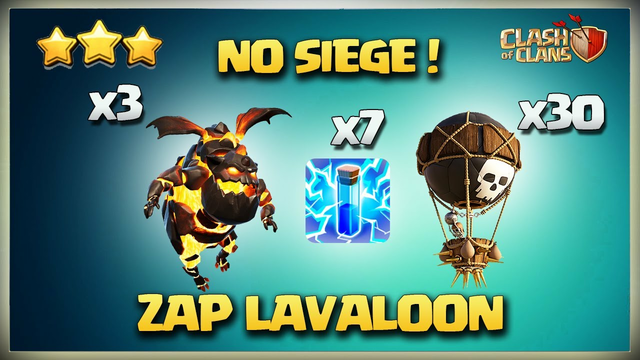 No Siege Th11 ZAP LaLo Attack* Th11 Lightening LaLo for 3 Star* Best Th11 Attack Clash Of Clans Coc