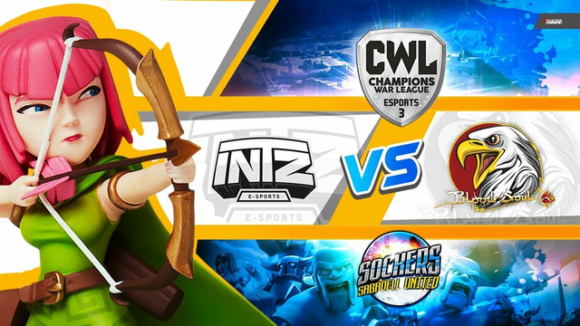 LIVE R16 CWL INTZ VS BLOOD AND SOUL | CLASH OF CLANS | SOCKERS