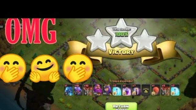 ALL TROOPS ATTACK IN CLASH OF CLANS | BIGGEST ATTACK OF CLASH OF CLANS | ALL UNITS ATTACK IN COC