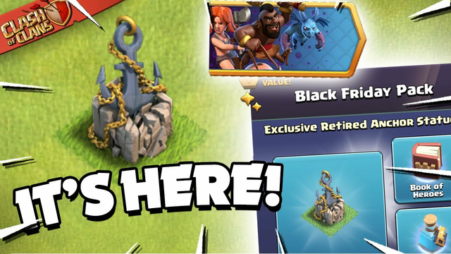 New Anchor Statue & Purchasing Black Friday Offers (Clash of Clans)