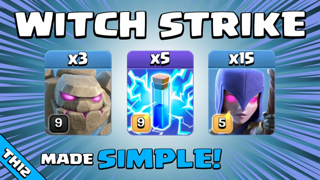 WITCH SPAM IS JUST TOO POWERFUL! TH12 Attack Strategy | Clash of Clans