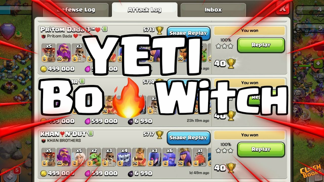 BEST YETI ARMY!!! | YETIBOWITCH TH13 TROPHY PUSHING ATTACK STRATEGY | CLASH OF CLANS |