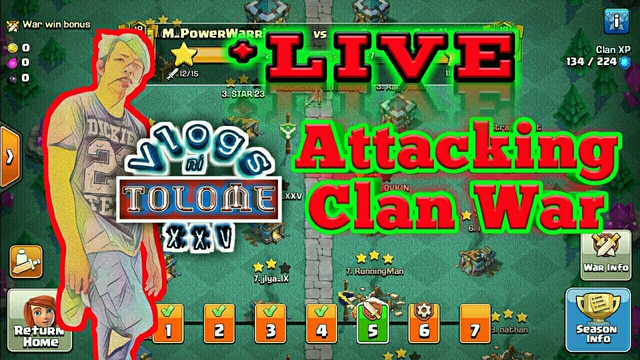 Live Attack at Clan Wars Using Pekka Bowler Bats #ClashofClans