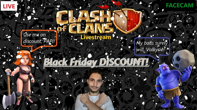 [ENG] Clash of Clans with FACECAM | Base Visit & Black Friday Discount!