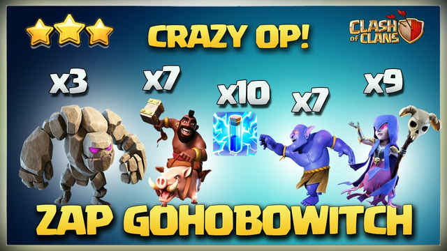 Th11 ZAP GoBoWitch - GoHoWitch - GoHoBoWitch - Best Th11 Zap BoWitch - Th11 Zap Attack Strategy Coc