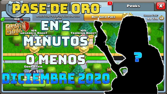 Clash of Clans Pase de Oro DICIEMBRE 2020 en 2 MINUTOS o MENOS