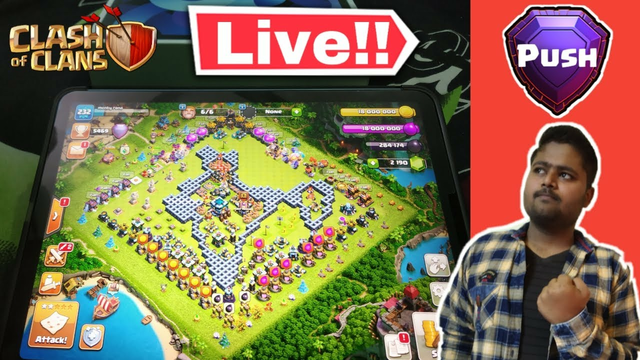 First Time Live with i pad Clash of clans - Thanks for 24k Subscribers