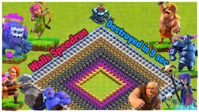 Incredible Walls Speedrun Tournament On Coc||Coc||Clash Of Clans||Speedrun Tournament||