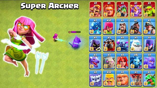 Super Archer vs All Troops | Clash of Clans Super Archer Attack