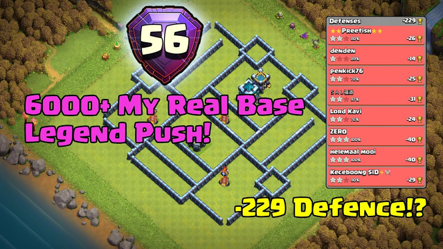 [TH13 Legend Base Link] 6000++ My Real Base (Clash of Clans War Base)