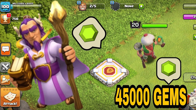 CLASH OF CLANS ! GEMMING Grand warden (LEVEL 1 to 20) 45000 gems