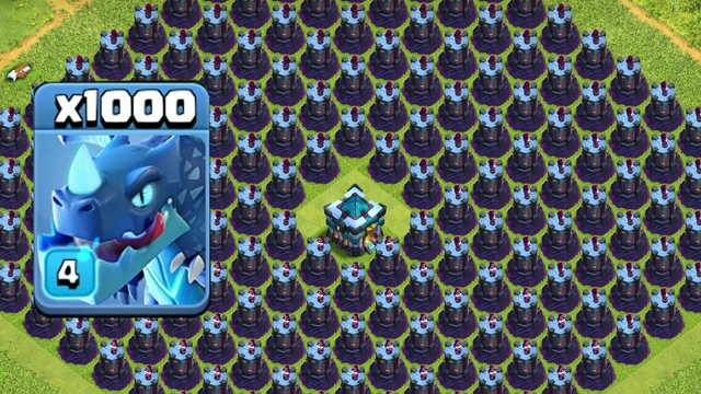 10000 Electro Dragone VS full Base Wizard Tower Amazing Attack On COC