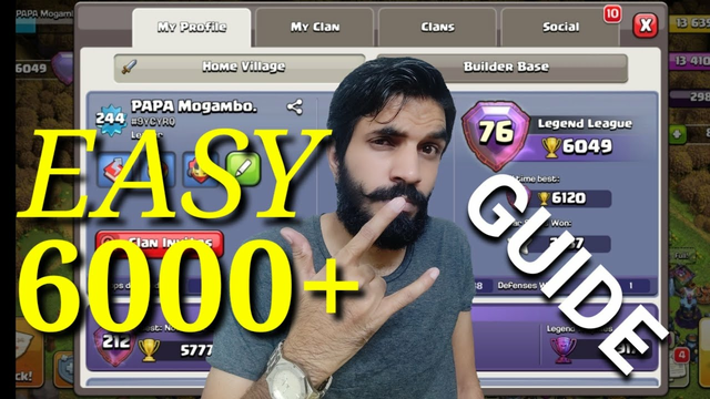 HOW TO HIT 6000 PLUS TROPHY....ALL SECRETES REVEALED TIPS AND TRICKS....CLASH OF CLANS....COC....