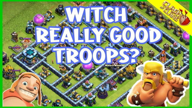 Witch really good troops? |Clash of Clans| Witch SPAM really Good |Th13 Attack