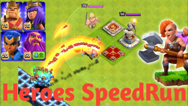 All Heroes Speedrun Tournament On Coc||Speedrun Tournment||Coc Challenge||Coc||Clash Of Clans||