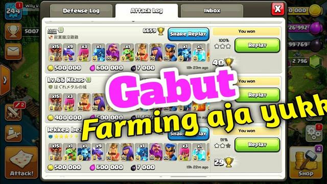 Live....!!!! Gaskeun war sambil farming santuy cuy | Clash Of Clans Indonesia
