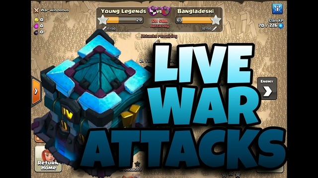 LIVE WAR ATTACKS | TH13 PekkaBoBat | TH10 DragBat | TH9 LavaLoon | (Clash of Clans)