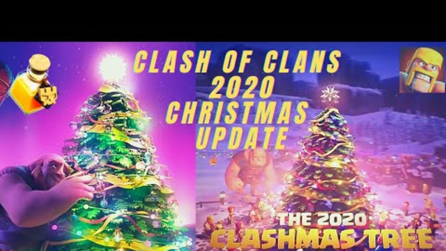 CLASH OF CLANS 2020 NEW CHRISTMAS UPDATE ( CLASHMAS TREE) #THE LOG #NEW MAGIC ITEM (coc)