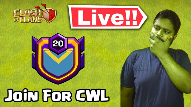 Join For CWL Clash of clans live fun facecam stream