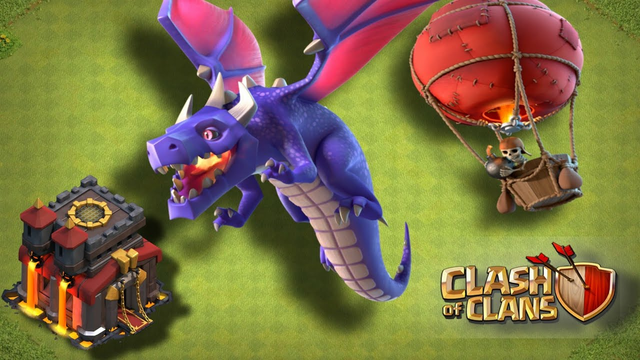 clash of clans th10 dragon attack strategy, th10 dragon attack 3 star,clash of clans,th10 war attack