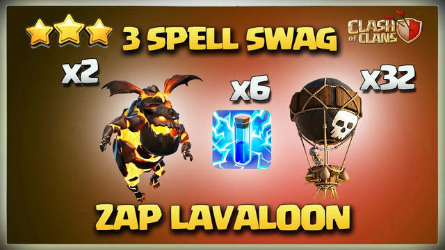 3 SPELL SWAG - Th12 Zap LaLo - BEST Th12 3 star Attack Strategy - Th11 LavaLoon Clash Of Clans Coc