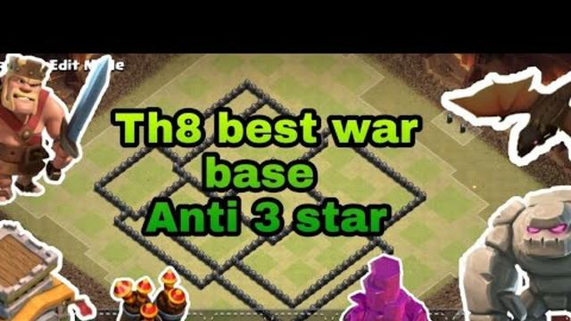 TH 8 || ANTI 3 STAR WAR BASE || WAR BASE || CLASH OF CLANS || G U R I ||