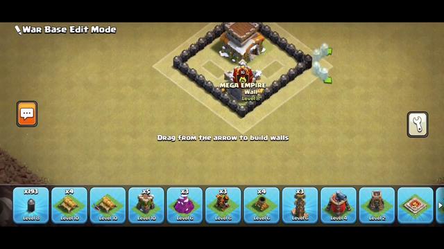 Clash of clans - Th8 War Base - Anti 3 Stars