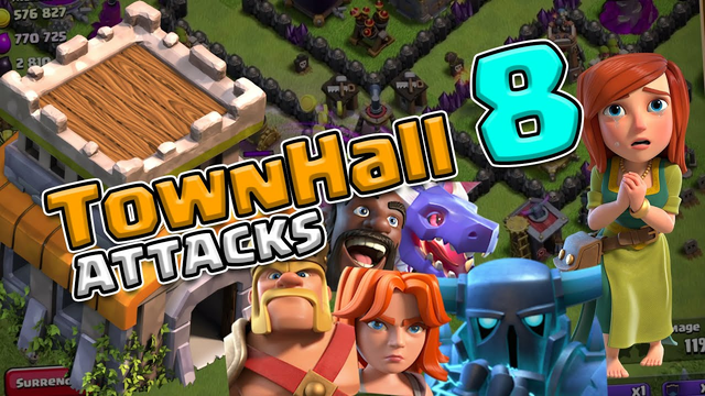 TownHall 8 attack! Clash of Clans [Tagalog/English]