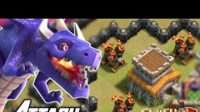 Dragon & Lightning Spell Th8 War Attack with - Clash of Clans