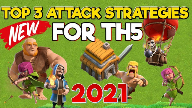 TOP 3 TH5 Attack Strategies WITHOUT OVERPOWERED CC TROOPS - Clash of Clans 2021