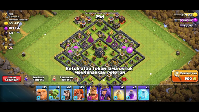 Game play clash of clans | ratain TH 9 |