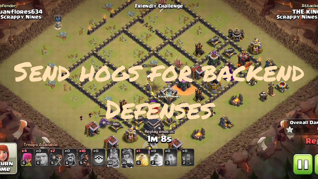 Th9 giants op strategy....................clash of clans