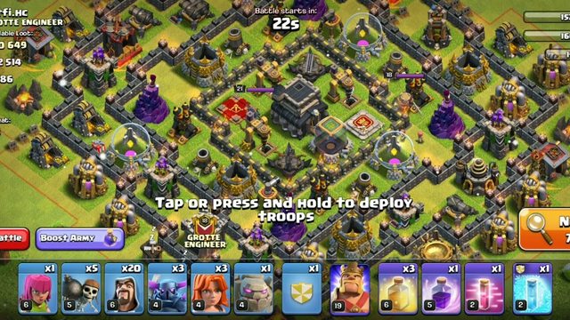Clash of Clans -100% Attack |Town Hall 9