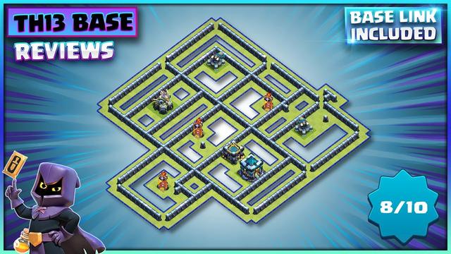 ANTI 3 STAR WAR BASE! TH13 Base + TH13 Base Layout Link | Clash of Clans