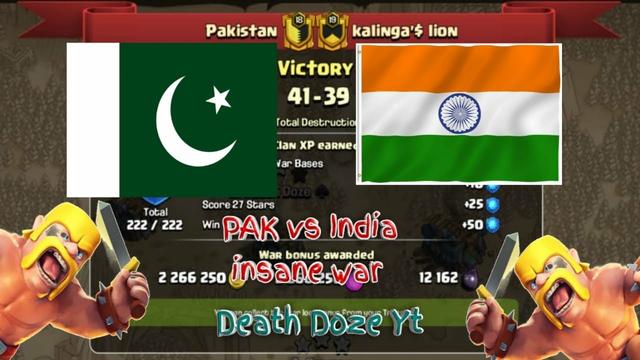 Pakistan VS INDIA   BEST WAR ATTACKS   CLASH OF CLANS   BEST TH12 WAR ATTACK STRATEGIES 2021
