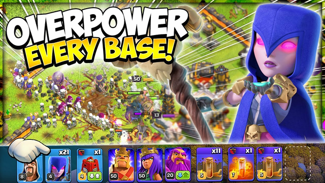 Mass Witch Army CANNOT Be Stopped! Easiest TH11 Spam Attack Strategy in Clash of Clans
