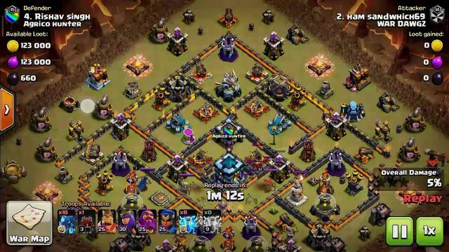 Clash of clans new th13 war base anti 3star base