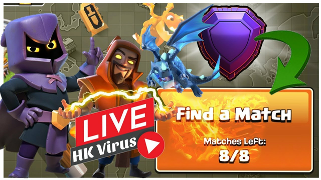 Th13 / Th11 Trophy Push Live / Challenge / coc live / Clash of clans Live/ New Troops Live Stream