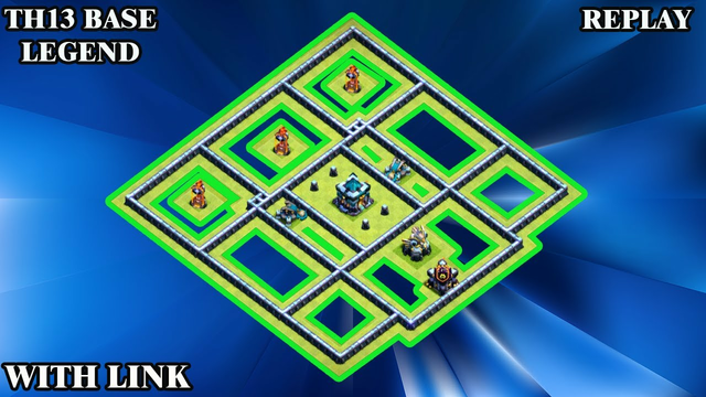 TH13 Base Legend + TH13 Base With Link | TH13 Attack Replay Clash of Clans