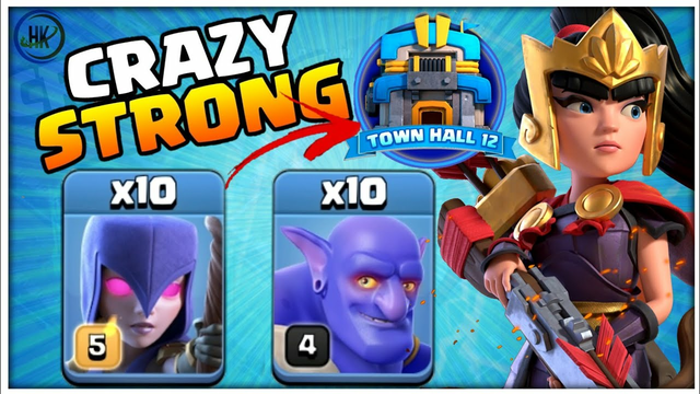 *BOWLER WITCH* BEST TH12 BOWLER WITCH Bat Attack Strategy -Town Hall 12 WAR ATTACK - Clash of Clans