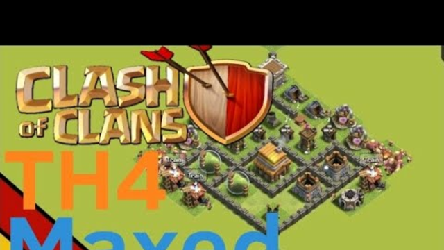 Clash of clans, TH4, max upgrades