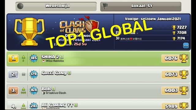 #1 Global Shiha 1/28/2021   BH9   Clash of Clans
