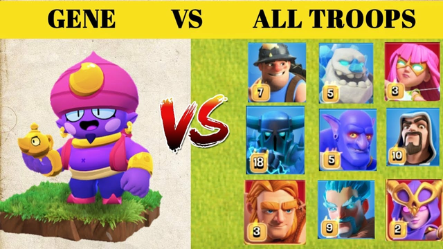 Gene vs all troops    clash of clans    clash of experiment    modded apk