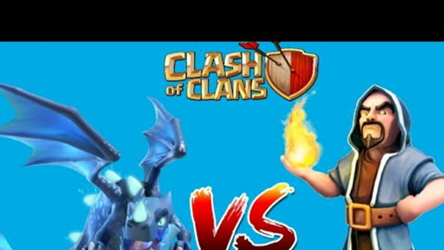100 WIZARDS VS 10 ELECTRO DRAGONS   CLASH OF CLANS  